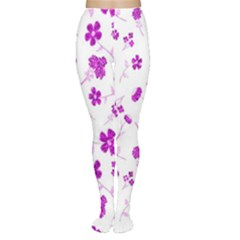 Sweet Shiny Floral Pink Women s Tights
