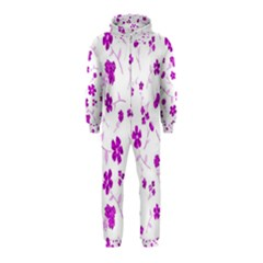Sweet Shiny Floral Pink Hooded Jumpsuit (Kids)