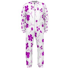 Sweet Shiny Floral Pink OnePiece Jumpsuit (Men)
