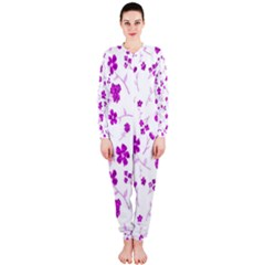 Sweet Shiny Floral Pink OnePiece Jumpsuit (Ladies)