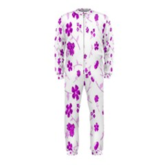 Sweet Shiny Floral Pink Onepiece Jumpsuit (kids)