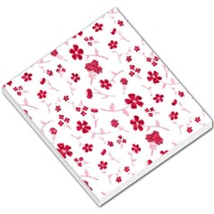 Sweet Shiny Floral Red Small Memo Pads