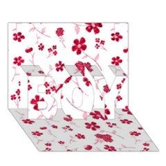 Sweet Shiny Floral Red BOY 3D Greeting Card (7x5)