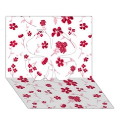 Sweet Shiny Floral Red Clover 3d Greeting Card (7x5)