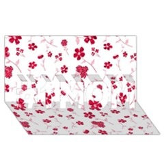 Sweet Shiny Floral Red #1 Mom 3d Greeting Cards (8x4)