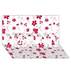 Sweet Shiny Floral Red Best Bro 3d Greeting Card (8x4)
