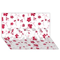 Sweet Shiny Floral Red Sorry 3d Greeting Card (8x4)