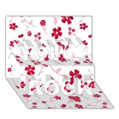Sweet Shiny Floral Red You Rock 3d Greeting Card (7x5)