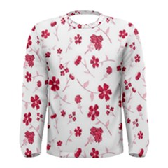 Sweet Shiny Floral Red Men s Long Sleeve T-shirts