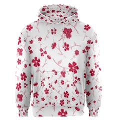 Sweet Shiny Floral Red Men s Pullover Hoodies