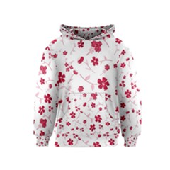 Sweet Shiny Floral Red Kid s Pullover Hoodies