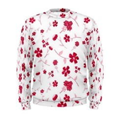 Sweet Shiny Floral Red Men s Sweatshirts