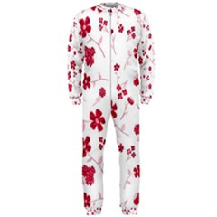 Sweet Shiny Floral Red Onepiece Jumpsuit (men)