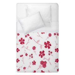 Sweet Shiny Floral Red Duvet Cover Single Side (single Size)