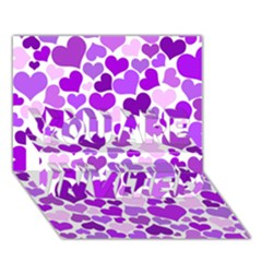 Heart 2014 0928 You Are Invited 3d Greeting Card (7x5)