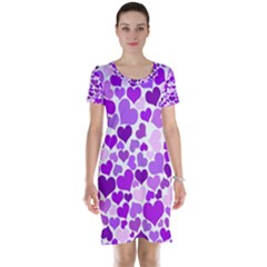 Heart 2014 0928 Short Sleeve Nightdresses