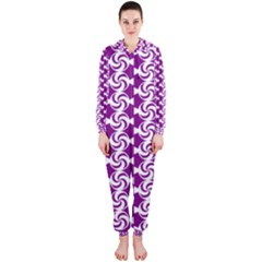 Candy Illustration Pattern Hooded Jumpsuit (Ladies)
