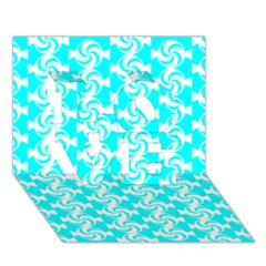 Candy Illustration Pattern LOVE 3D Greeting Card (7x5)