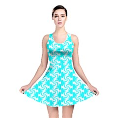 Candy Illustration Pattern Reversible Skater Dresses