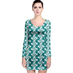 Cute Candy Illustration Pattern For Kids And Kids At Heart Long Sleeve Bodycon Dresses