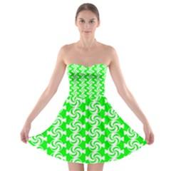 Candy Illustration Pattern Strapless Bra Top Dress
