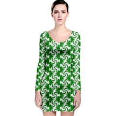 Candy Illustration Pattern Long Sleeve Bodycon Dresses