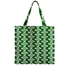 Candy Illustration Pattern Zipper Grocery Tote Bags