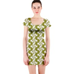 Candy Illustration Pattern Short Sleeve Bodycon Dresses