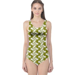 Candy Illustration Pattern Women s One Piece Swimsuits