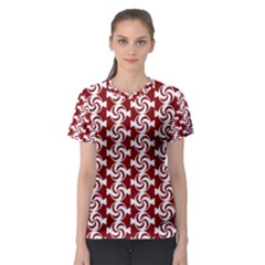 Candy Illustration Pattern Women s Sport Mesh Tees