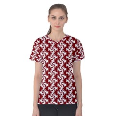 Candy Illustration Pattern Women s Cotton Tees
