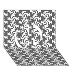 Candy Illustration Pattern Peace Sign 3d Greeting Card (7x5)