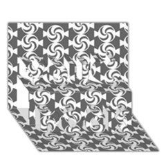 Candy Illustration Pattern You Rock 3D Greeting Card (7x5)
