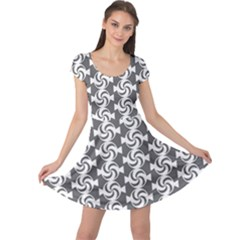 Candy Illustration Pattern Cap Sleeve Dresses