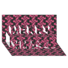 Candy Illustration Pattern Merry Xmas 3D Greeting Card (8x4)