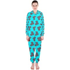 Cute Baby Socks Illustration Pattern Hooded Jumpsuit (Ladies)