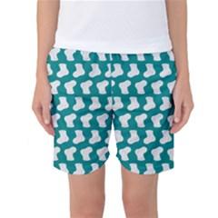 Cute Baby Socks Illustration Pattern Women s Basketball Shorts