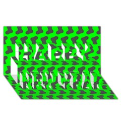 Cute Baby Socks Illustration Pattern Happy New Year 3D Greeting Card (8x4)