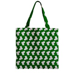 Cute Baby Socks Illustration Pattern Zipper Grocery Tote Bags