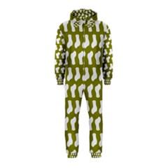 Cute Baby Socks Illustration Pattern Hooded Jumpsuit (Kids)