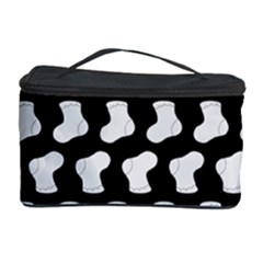 Black And White Cute Baby Socks Illustration Pattern Cosmetic Storage Cases