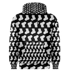 Black And White Cute Baby Socks Illustration Pattern Men s Pullover Hoodies