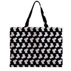 Black And White Cute Baby Socks Illustration Pattern Zipper Tiny Tote Bags