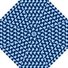 Blue Cute Baby Socks Illustration Pattern Folding Umbrellas
