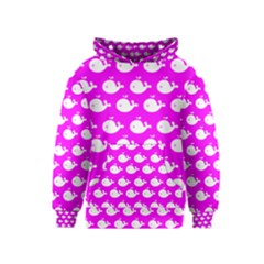 Cute Whale Illustration Pattern Kid s Pullover Hoodies