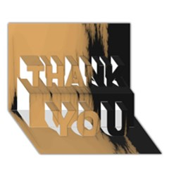 Sunset Black THANK YOU 3D Greeting Card (7x5)