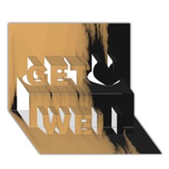Sunset Black Get Well 3D Greeting Card (7x5)