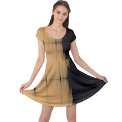 Sunset Black Cap Sleeve Dresses