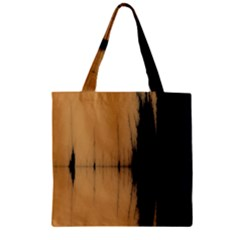 Sunset Black Zipper Grocery Tote Bags