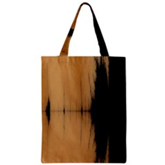 Sunset Black Zipper Classic Tote Bags